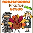 Kindergarten Interactive Practice Pages {For the Fall!}