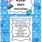 Kindergarten Interactive Winter Math Centers