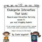 Kindergarten Interventions That Work!