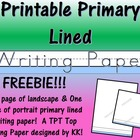 Kindergarten Journal Writing Paper Printable - Beginner Writer