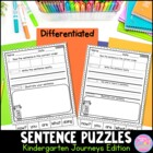 Kindergarten Journeys Sentence Puzzles