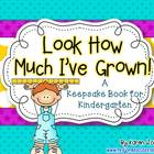 Kindergarten Keepsake Book with Samples from Beginning and