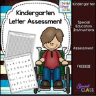 Kindergarten Letter Assessment Pack