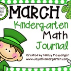 Kindergarten March Math Journals