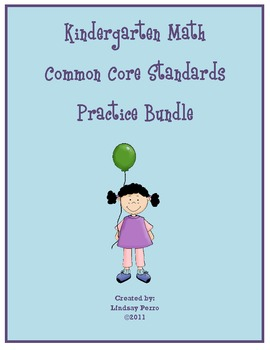 Kindergarten Math Common Core Standards Bundle