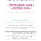 Kindergarten Math Common Core Standards List