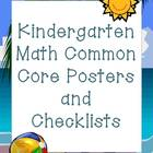 Kindergarten Math Common Core Standards Pack (Beach Theme)