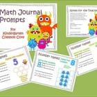 Kindergarten Math Journal Prompts Common Core