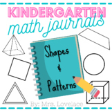 Kindergarten Math Journal Prompts:  Shapes and Patterns Co
