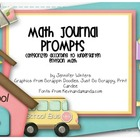 Kindergarten Math Journals (correspond to Envision Math 2011)