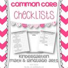 Kindergarten Math & Language Arts Common Core Checklists
