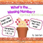 Kindergarten Math: Ordering Numbers {Spring}
