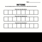Kindergarten Math - Patterns - Create A Pattern