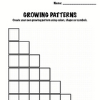 Kindergarten Math - Patterns - Growing Patterns