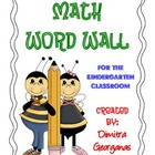 Kindergarten Math Word Wall