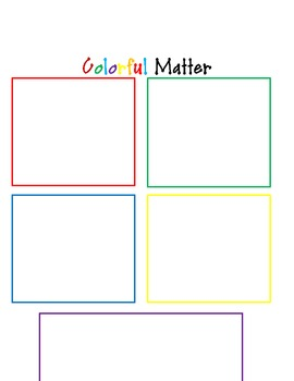 Kindergarten Matter Lesson for Common Core