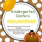 Kindergarten Monthly Centers - November