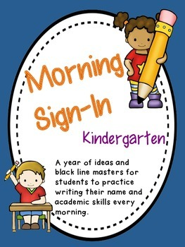 Kindergarten Morning Routine Sign - In