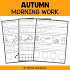 Kindergarten Morning Work Pack for Fall
