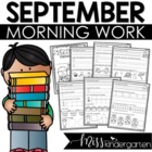 Kindergarten Morning Work {September}