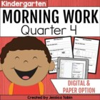 Kindergarten Morning Work or Homework for Common Core Set 