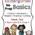 Kindergarten NO PREP Basics {Week 1}