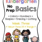 Kindergarten NO PREP Basics {Week 3}