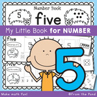 Kindergarten Number Book - Number Five - 5 Day Booklet