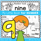 Kindergarten Number Book - Number Nine - 5 Day Booklet