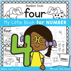 Kindergarten Number Book - Number Four - 5 Day Booklet