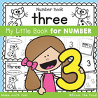 Kindergarten Number Book - Number Three - 5 Day Booklet