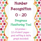 Kindergarten Number Recognition 0-20 Progress Monitoring A