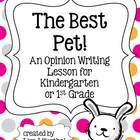 Kindergarten Opinion Writing ~ The Best Pet! {Common Core}