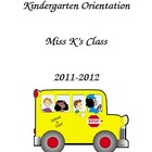 Kindergarten Orientation Packet