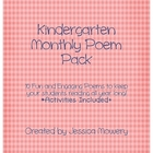Kindergarten Poetry Pack