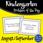 Kindergarten Problem of the Day - August/September