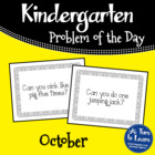 Kindergarten Problem of the Day - October