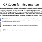 Kindergarten QR Codes