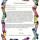 Kindergarten Questionnaire