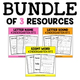 Kindergarten RTI - Letters, Sounds, & Sight Words BUNDLE (