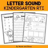 Kindergarten RTI - Letter Sounds (English)