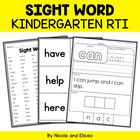 Kindergarten RTI - Sight Words