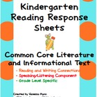 Kindergarten Read and Respond Sheets