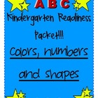 Kindergarten Readiness 2: Colors, Numbers and Shapes