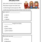 Kindergarten Reading Comprehension Passage with multiple c