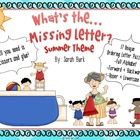 Kindergarten Reading: Ordering Letters {Summer}
