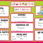 Kindergarten Reading Street Unit 1 Target Skills SAMPLE