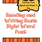 Kindergarten Reading and Writing Basic Sight Words Packet