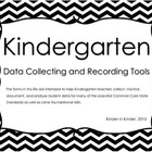 Kindergarten Data Recording Tools