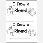 Kindergarten Rhyme Reproducible Printable Book K.RF.2a Use